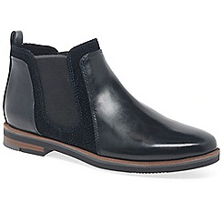 Marco Tozzi - Navy 'admiral' flat chelsea boots