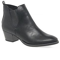 Marco Tozzi - Black 'Deltana' mid heeled Chelsea boots