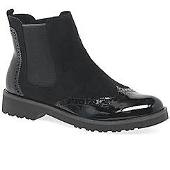 Marco Tozzi - Black 'Ariane' flat Chelsea boots