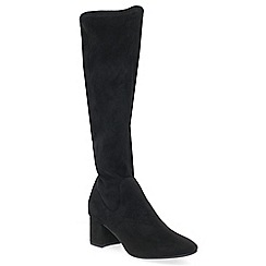 Marco Tozzi - Black 'Reinette' mid heeled knee high boots