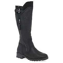 Marco Tozzi - Black 'Laxton' flat knee high boots