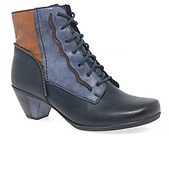 Rieker - Navy 'Signal' lace up ankle boots