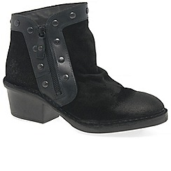 Fly London - Black suede 'Duke' ankle boots