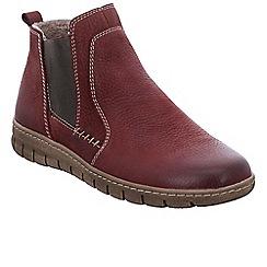 Josef Seibel - Maroon nubuck 'Steffi 49' flat chelsea boots