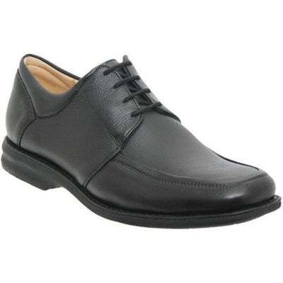 Black Eldorado Mens Leather Lace Up Shoes