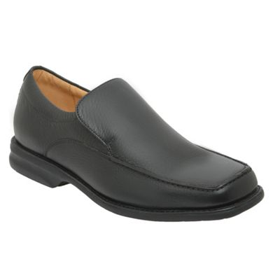 Black New Bahia Mens Leather Slip On Shoes