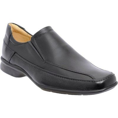 Black Tupi Mens Leather Slip On Shoes
