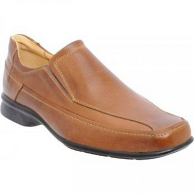Tan Tupi Mens Leather Slip On Shoes