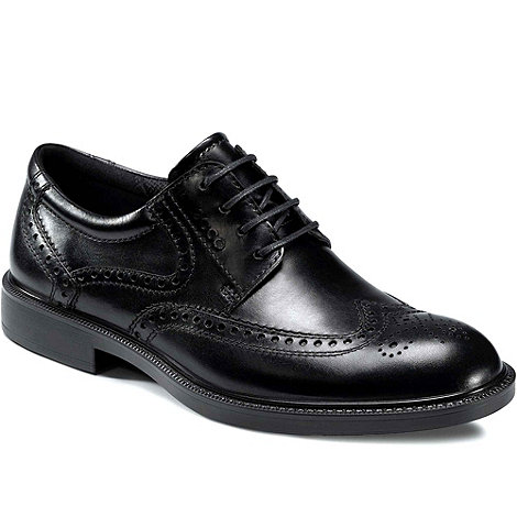 Ecco - Black Dixon Men+s Lace Up Formal Shoes