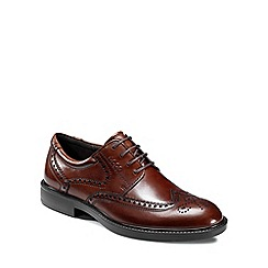Ecco - Dark brown Dixon Men's Lace Up Formal Shoes