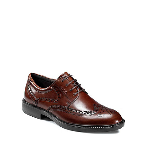 Ecco - Dark brown Dixon Men+s Lace Up Formal Shoes