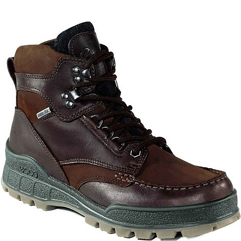 Ecco - Brown Cheviot Lace Up Walking Boots