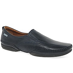 Pikolinos - Dark blue leather 'Ricardo' casual slip on shoes