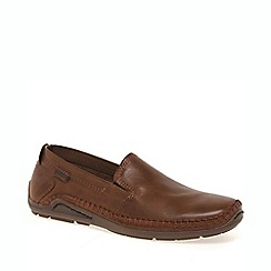 Pikolinos - Tan driven mens casual slip on shoes