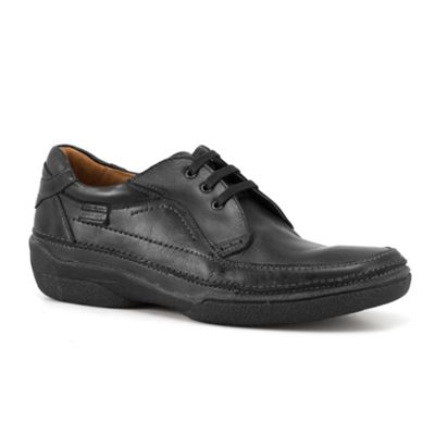Black Frankfurt Mens Leather Lace Up Shoes