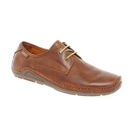 Pikolinos - Tan +Amazon+ Mens Lace Up Casual Shoes