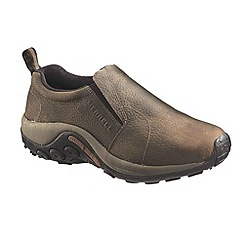 Merrell - Brown 'jungle moc' mens casual slip on shoes