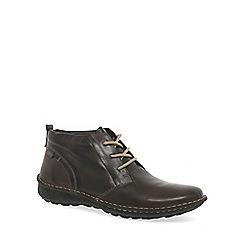 Pikolinos - Dark brown 'Chile' Mens Leather Lace Up Ankle Boots