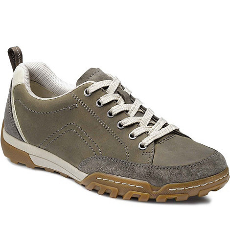 Ecco - Grey Calgary Men+s Lace Up Trainers