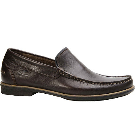Camel Active - Brown ryder mens slip on casual shoes