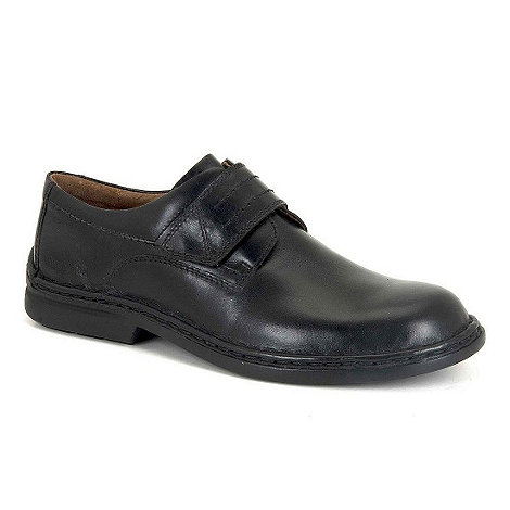 Josef Seibel - Black vigo mens rip tape fastening casual shoes