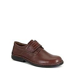 Josef Seibel - Brown Vigo mens rip tape fastening casual shoes