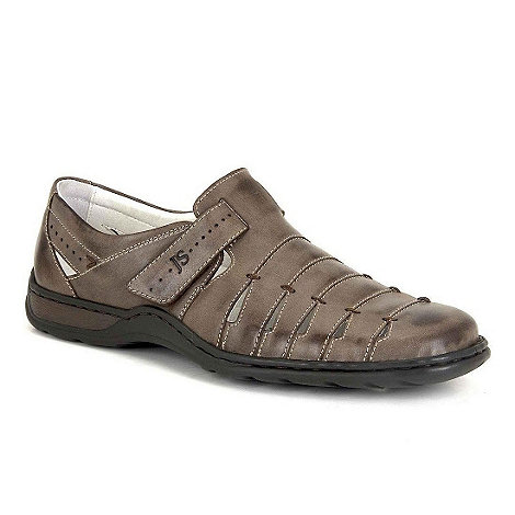 Josef Seibel - Brown lionel mens rip tape fastening shoes