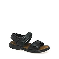 Josef Seibel - Black Rafe Leather Sandals