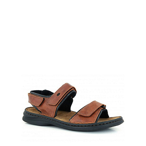 Josef Seibel - Brown Rafe Leather Sandals