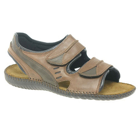 Josef Seibel - Brown form riptape sandals