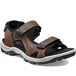 Ecco - Brown Urchin Mens Velcro Fastening Sandals