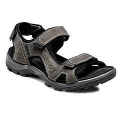 Ecco - Grey urchin men's rip tape fastening sandals