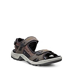 Ecco - Light brown 'Yucatan' Mens Rip tape Fastening Sandals