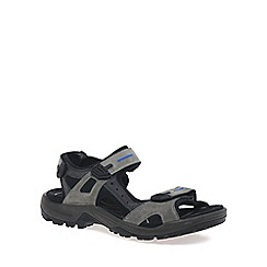 Ecco - Grey 'Yucatan' Mens Rip tape Fastening Sandals