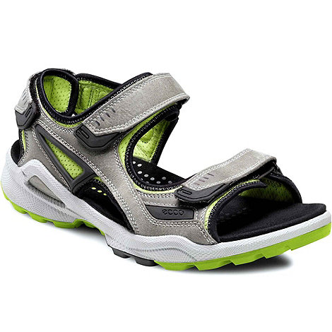 Ecco - Grey biom terrain men+s rip tape fastening sandals
