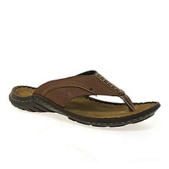 Josef Seibel - Brown 'Logan' mens toe post sandals