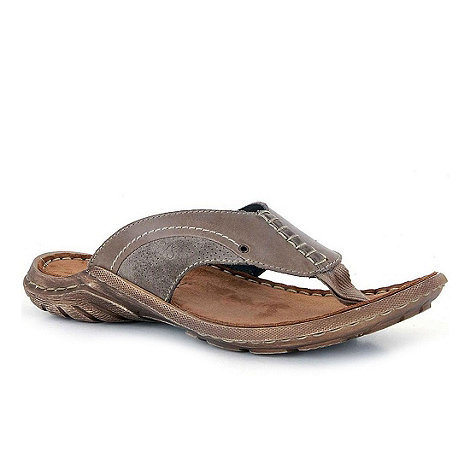 Josef Seibel - Taupe Logan Mens Toe Post Sandals