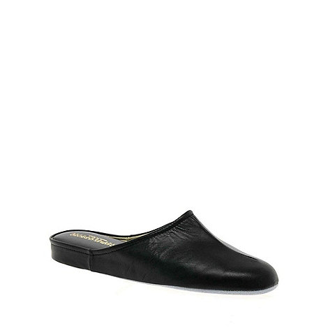 Relax - Black +Gavin+ Mens Leather Slippers