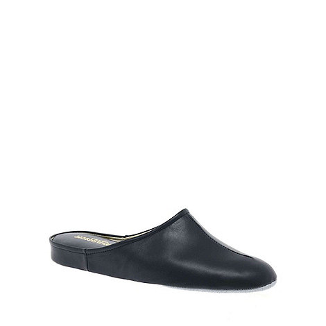 Relax - Navy +Gavin+ Mens Leather Slippers