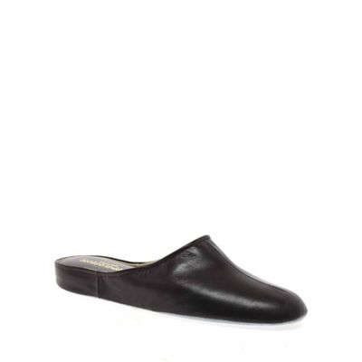 Maroon Gavin Mens Leather Slippers