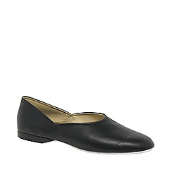 Relax - Black 'Grecian' Leather Slippers