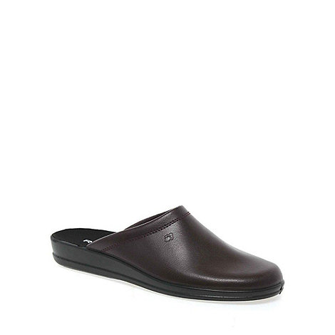 Rohde - Wine mule leather mens slippers