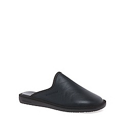 Nordikas - Black 'Norwood III' Mens Leather Slippers