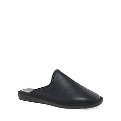 Nordikas - Black 'Norwood III' Mens Leather Slippers