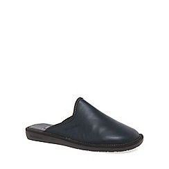 Nordikas - Navy 'Norwood III' Mens Leather Slippers