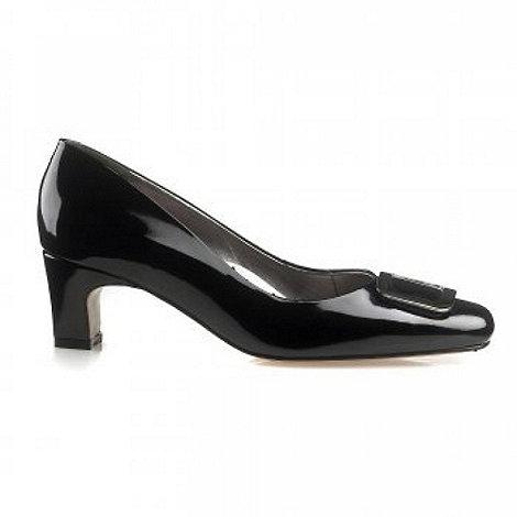 Van Dal - Black Joliette Black Patent Wide Fit Court Shoes