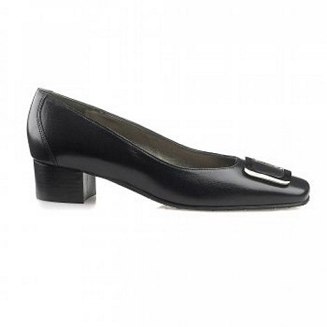 Van Dal - Black Sedalia Buckle Trim Wide Fit Court Shoes