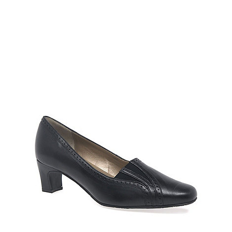 Van Dal - Black Winona Brogue Wide Fit Court Shoes