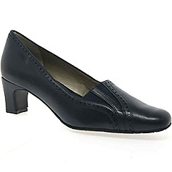 Van Dal - Dark blue 'Winona' Brogue Wide Fit Court Shoes