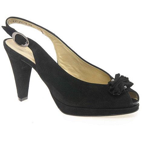 Peter Kaiser - Black +ellen+ suede sling back peep toe heels